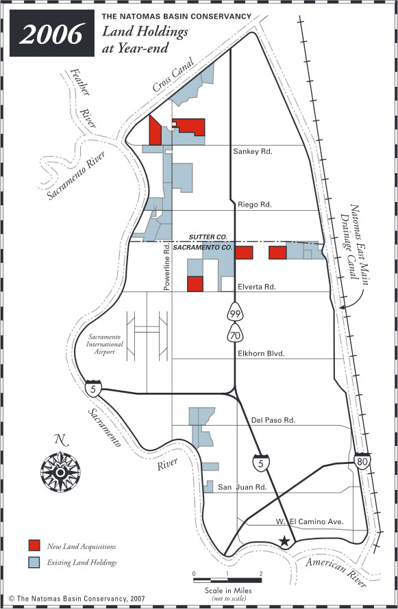 The Natomas Basin Conservancy Land Holdings at Year-end: 2006