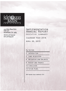 Implementation Annual Report